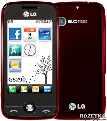LG Cookie Fresh GS290 Red