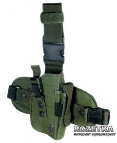 Кобура набедренная Leapers UTG Special Ops Universal PVC-H178G OD Green (23700542)