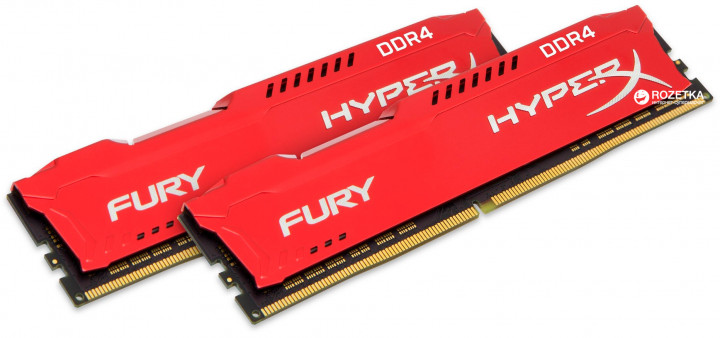 Оперативная память HyperX DDR4-2400 16384MB PC4-19200 (Kit of 2x8192) Fury Red (HX424C15FR2K2/16) - изображение 1
