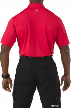 Футболка-поло тактична 5.11 Tactical Pinnacle Short Sleeve Polo 71036 Range Red