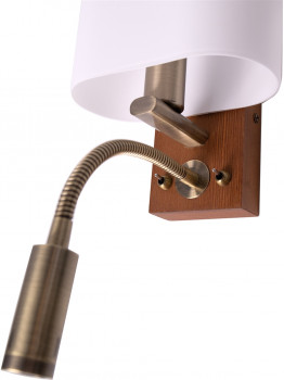 Бра Altalusse INL-3095W-02 Antique brass & Walnut Е14 1x40 Вт + 1xLED 3 Вт