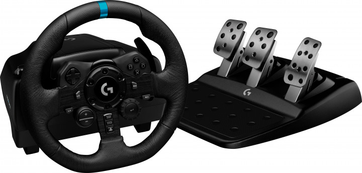 Дротове кермо Logitech G923 Racing Wheel and Pedals for PS4 and PC (941-000149) - зображення 1