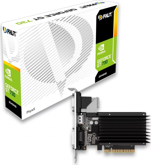 Видеокарта GeForce GT730 2048Mb PALIT (NEAT7300HD46-2080H) - изображение 1