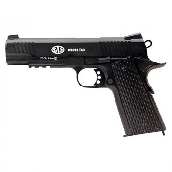 Пистолет пневматический SAS (M1911 Tactical) Blowback. Корпус - металл (2370.14.29)