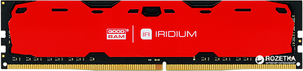 Оперативная память Goodram DDR4-2400 4096MB PC4-19200 IRDM Red (IR-R2400D464L15S/4G)