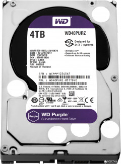 Жесткий диск Western Digital Purple 4TB 64MB 5400rpm WD40PURZ 3.5 SATA III