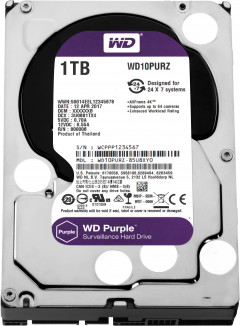 Жесткий диск Western Digital Purple 1TB 64MB 5400rpm WD10PURZ 3.5 SATA III