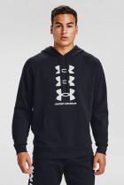 Мужское черное худи UA Rival Flc Multilogo HD Under Armour 3XL 1357094-001