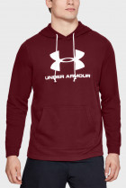 Мужское бордовое худи SPORTSTYLE TERRY LOGO HOODIE Under Armour L 1348520-615