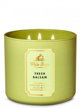Свічка ароматизована Bath and Body Works White Barn FRESH BALSAM 3-Wick Candle 411 р