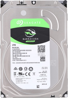 Жесткий диск Seagate BarraCuda HDD 4TB 5400rpm 256MB ST4000DM004 3.5 SATA III