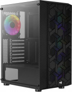 Корпус Aerocool Hive Black Mid Tower FRGB Glass side panel (Hive-G-BK-v2)