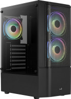 Корпус Aerocool Quantum Mesh Black Mid Tower FRGB side panel (QuantumMesh-G-BK-v2) - зображення 2
