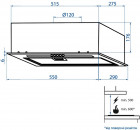 Витяжка MINOLA HBI 5264 BL GLASS 700 LED Line - зображення 9