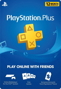 PlayStation Plus на 12 months USA 365 дней/12 месяцев, PSN+