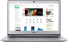 Ноутбук Acer Swift 3 SF314-51-34TX (NX.GKBEU.052) Sparkly Silver