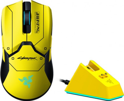 Миша Razer Viper Ultimate Wireless & Mouse Dock Cyberpunk 2077 Edition (RZ01-03050500-R3M1)
