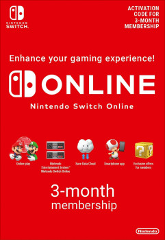 Nintendo Switch Online Gift Card 3 місяці EU- регіон