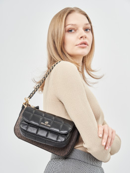 Жіноча сумка Michael Kors Jet Set Charm 32H0GT9C8B-292 Brown/Blk (0194900238646)