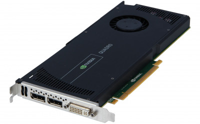 Видеокарта HPE HPE PCA nVIDIA Quadro 4000 2GB PCIe (654840-001) Refurbished