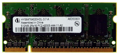 Оперативная память Infineon INFINEON 512MB SODIMM 2RX16 DDR2 PC2-4200S 533MHZ (0Y5522) Refurbished
