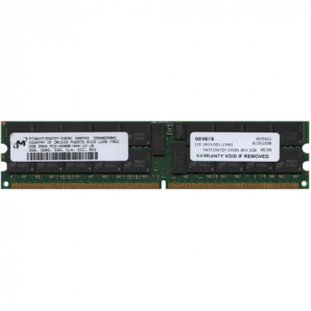 Оперативная память Micron MICRON 2GB (1*2GB) 2RX4 PC2-4200R DDR2-533MHZ ECC MEMORY (MT36HTF25672Y-53EB1) Refurbished