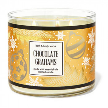 Свеча ароматизированная Bath and Body Works CHOCOLATE GRAHAMS 3-Wick Candle 411 г