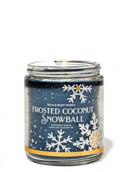 Свічка ароматизована Bath and Body Works Frosted Coconut Snowball Scented Candle 198 г