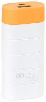 УМБ Optima Promo Series OPB-3 3000 mAh White/Orange (OPT-OPB-3WTOR)