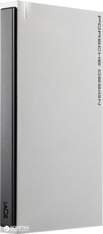 "Жесткий диск LaCie Porsche Design Mobile Drive for Mac 1TB STET1000400 2.5"" USB 3.0 External Silver"