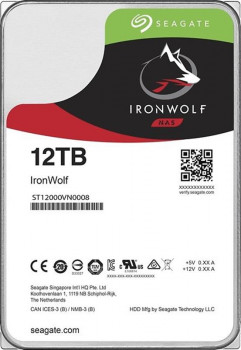 Накопичувач HDD SATA 12.0TB Seagate IronWolf NAS 7200rpm 256MB (ST12000VN0008)
