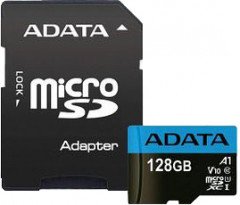 A-Data Premier microSDXC 128GB UHS-I Class 10 + SD-adapter (AUSDX128GUICL10A1-RA1)
