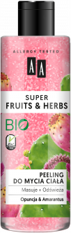Пилинг для тела AA Super Fruits And Herbs опунция и амарант 200 мл (5900116064857)