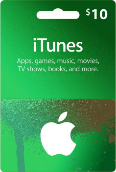 iTunes Apple Gift Card 10 usd, US-регион