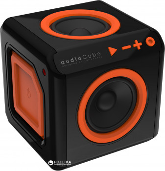 Акустична система Allocacoc audioCube Black/Orange (3802/EUACUB)