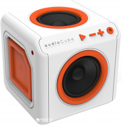 Акустическая система Allocacoc audioCube Portable White/Orange (3902/EUACPT)