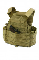 Бронежилет Pantac Molle 6094 Plate Carrier VT-C094 With Commerbund, Cordura Medium, Хакі (Khaki) - зображення 8