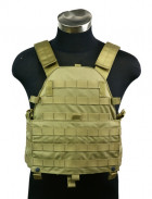 Бронежилет Pantac Molle 6094 Plate Carrier VT-C094 With Commerbund, Cordura Medium, Хакі (Khaki) - зображення 9