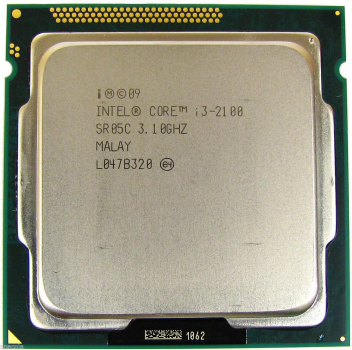 Б/У, Процессор, Intel Core i3-2100, s1155, 2x3.1GHz, 5GTs, 3MB, 65 Вт, BX80623I32100
