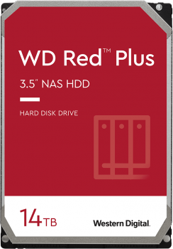 "Жорсткий диск Western Digital Red Plus NAS 14 TB 5400 rpm 512 MB WD140EFFX 3.5"" SATA III"