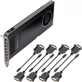 PNY PCI-Ex nVidia NVS 810 for Eight DVI SL Displays 4GB DDR3 (128bit) (8 x miniDisplayPort) (VCNVS810DVI-PB)