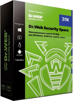 Антивирус Dr. Web Security Space Multi-Device (3 ПК/2 ГОДА) ESD (LHW-BK-24M-3-A3)