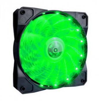 Вентилятор 1stPlayer A1-15LED Green bulk; 120х120х25мм, 4-pin
