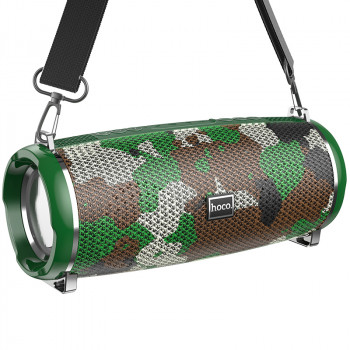 Портативная акустическая система HOCO Xpress sports BT speaker LED IPX5 HC2 |BT, TWS, AUX, FM, TF, USB| Camouflage-Green