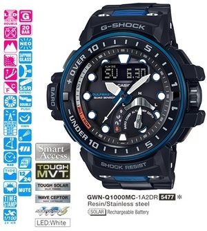 Часы CASIO GWN-Q1000MC-1A2ER