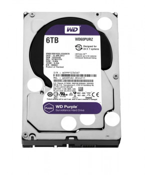 Накопичувач HDD SATA 6.0TB WD Purple 5400rpm 64MB (WD60PURZ)