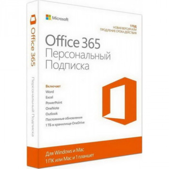 Microsoft Office 365 Personal 1 User 1 Year Subscription Ukrainian Medialess P4 (QQ2-00837)