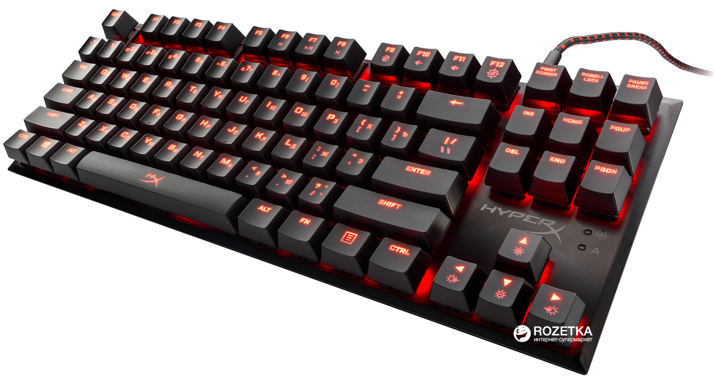Клавиатура проводная HyperX Alloy FPS Pro Cherry MX Red USB Black (HX-KB4RD1-RU/R1)