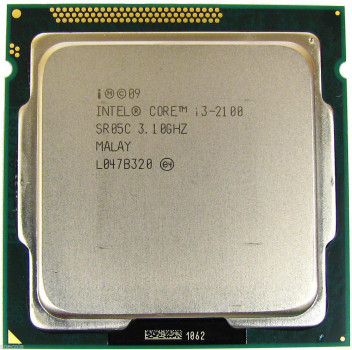 Процесор Intel Core i3-2100 3.1 GHz/3MB/5GT/s (SR05C) s1155 tray