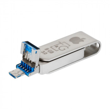 Flash Drive T&G 3&1 Ligtining&Android 8gb Metal 007 (32205)